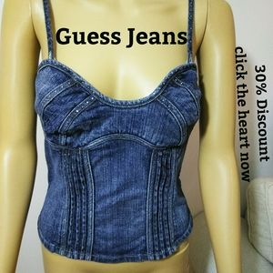 Guess Jeans, halter style Top Sz SmP